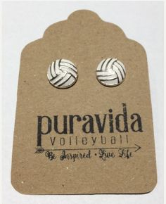 Volleyball Earrings find on our website www.puravidavolleyball.com
