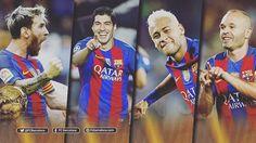 Four FC Barcelona players nominated for the Ballon d'Or  @andresiniesta8  @luissuarez9 , @leomessi  i @neymarjr, candidats a la Pilota d'Or Iniesta, Suárez, Messi y Neymar Jr, candidatos al Balón de Oro #football #igersfcb #fcbarcelona #Ballondor