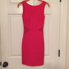 Zara dress small Beautiful color. This dress fits great. Sheer sides and perfect for a night out. Zara Dresses