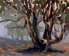 """Live Oak"" - Original Fine Art for Sale - © Linda Blondheim"