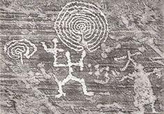 Val Camonica. od paleolitu poprzez neolit i aż do średniowiecza coś tam dorysowywano. duże uproszczenia, gł. człowiek