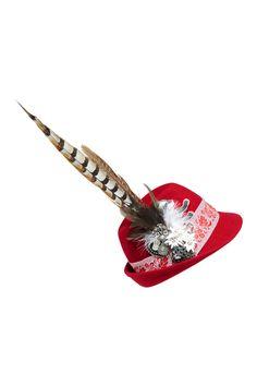 Dirndl-Hut aufwändig verziert