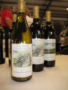 Becker Vineyards--lovely winery outside of Fredericksburg; good wines inside the winery.