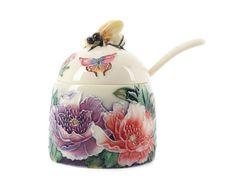 Art Deco New Butterflies Bee Honey Pot Old Tupton Ware #Jars