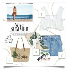 """☀️"" by patri-fachini ❤ liked on Polyvore featuring Anine Bing and Straw Studios"