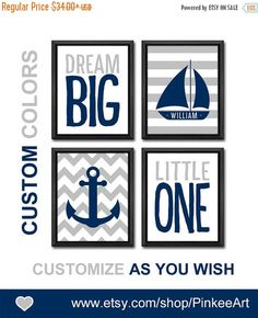 Nautical Nursery Wall Decor nautical baptism gift baby boy nursery bible verse psalm 93:4