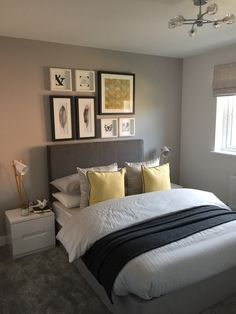 14 Fabulous Rustic Chic Bedroom Design and Decor Ideas to Make Your Space Special - The Trending House Home Bedroom, Modern Bedroom, Bedroom Decor, Bedroom Ideas, Wall Decor, Mustard Bedroom, Accent Wall Bedroom, Bedroom Colors, Yellow Gray Bedroom