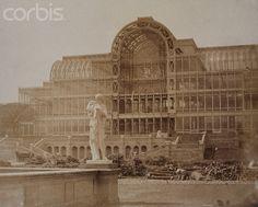 The south transept of the Crystal Palace, London, 1853 London History, British History, Uk History, Local History, Family History, Vintage London, Old London, Fire London, South London