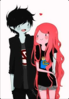adventure-time-anime-marshall-lee-and-princess-bubblegum