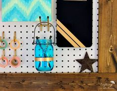 Framed Pegboard (Craft Room Organization)