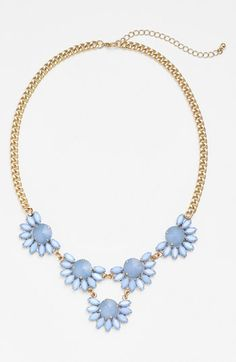 Floral Stone Frontal Necklace
