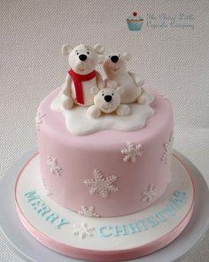 Polar Bear Christmas Cake - by CleverLittleCupcake @ CakesDecor.com - cake decorating website