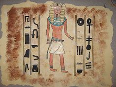 Ancient Egyptian wall art