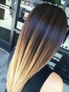 Reverse ombre dyed hair