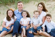 Beach, Virginia, Family photo, family picture, family photoshoot, family photo shoot, jean, white, blue, orange, beach photo, beach picture, family photography, labl photography. family of 6, family of six, four kids, 4 kids, 4 children