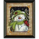 Found it at Wayfair - Timeless Frames Feathered Friend Winter and Holiday Art Print