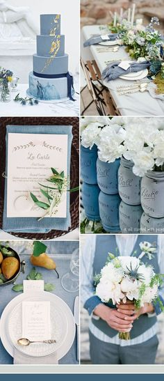 the best dusty blue wedding color ideas #WeddingIdeasElegant