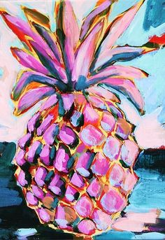 pineapple painting my Megan Carn. Art And Illustration, Painting Inspiration, Art Inspo, Design Inspiration, Tableau Pop Art, Kunst Inspo, Arte Pop, Love Art, Artsy Fartsy
