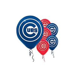 Amscan Chicago Cubs Major League Baseball Printed Latex Party Balloons 12 BlueRed >>> Check out the image by visiting the link. Mlb Team Logos, Mlb Teams, Cubs Team, Cubs Win, Printed Balloons, Latex Balloons, Boston Red Sox, Balloon Decorations, Party Supplies