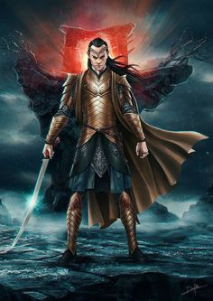 Elrond Hobbit Art, O Hobbit, Thranduil, Legolas, Jrr Tolkien, Fantasy Armor, Medieval Fantasy, Midle Earth, John Howe