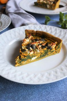 Ma tarte courge, blettes et feta à adapter au gré des saisons et de son panier Le Curry, Quiches, Vegetable Pizza, Feta, Cakes, Vegetables, Blog, Delicious Chocolate Cake, Cooker Recipes