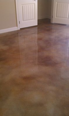 Stained Concrete. Converting my garage into an indoor playground for the tot spot