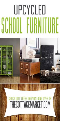 25 Upcycled School Furniture and Card Catalogs It's SCHOOL TIME! - The Cottage Market
