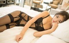 Asian beauty  #Blacklace#asianbeauty#bikini#peri Asian Woman, Asian Beauty, Thighs, Stockings, Bikinis, Model, Face, Fashion, Socks