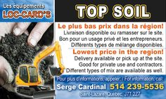TOP SOIL  Lowest price in the region ! High quality soil for all of your landscaping needs ! http://www.groupvaudreuil.com/product/top-soil/