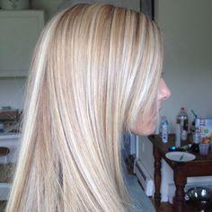 Platinum blonde highlights