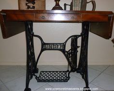 Re-purposed Antique Singer Sewing Machine and Coffee Table