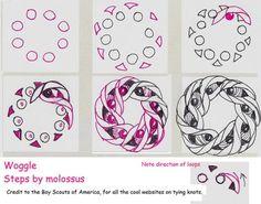 Woggle-Tangle Pattern by molossus, who says Life Imitates Doodles, via Flickr by Katybug