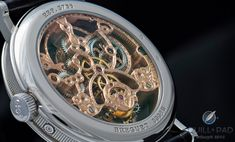 Extensive hand finishing, including skeletonization and chasing, on the Breguet Reference 3755