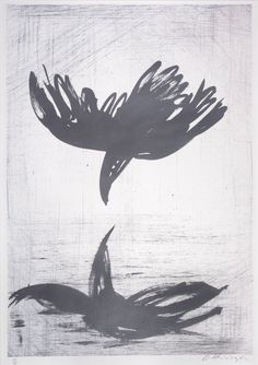 Arthur Boyd, Australia (1920-1999) • Crow Reflected • Lithograph • Gift of Dr B. Roberts 1981 • 1981.030 #ArthurBoyd #lithograph #AustralianArtist Arthur Boyd, Australian Artists, Asian Art, Crow, Metal Working, Contemporary Art, Gallery, Gift, Prints