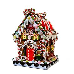 Kurt Adler Lighted Christmas Candy Gingerbread House
