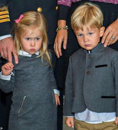 Danish Twins Princess Jospehine and Prince Vincent during the family trip to Greenland, August 2014