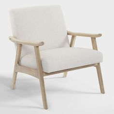 Ivory Jake Armchair by World Market - June 08 2019 at Rustic Furniture, Living Room Furniture, Modern Furniture, Home Furniture, Living Room Decor, Antique Furniture, Furniture Sets, Outdoor Furniture, Furniture Market