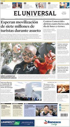 #VENEZUELA #CARACAS #LATINOAMERICA #LatinAmerica #ELUNIVERDALdiarioVENEZUELA Martes 9 FEB 2016 http://en.kiosko.net/ve/2016-02-09/np/ve_universal.html