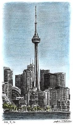 CN Tower, Toronto - drawings and paintings by Stephen Wiltshire MBE