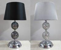 Modern Crackle Mosaic Table Lamp Bedside Light
