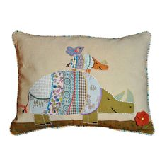 Cottage Home Rhino Decorative Pillow   Overstock.com Shopping - Great Deals on Cottage Home Throw Pillows