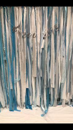 Photo backdrop  Winter wonderland dance Blue, silver, white