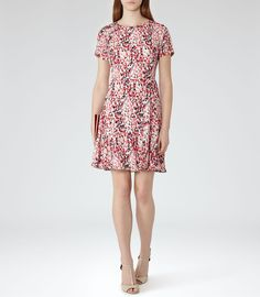 Womens Papaya Printed Dress - Reiss Marlas