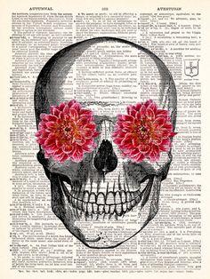 Pink flower skull skulls pinterest flower skull mightylinksfo