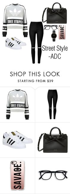Street Style by anatiller on Polyvore featuring adidas Originals, adidas, Topshop and Casetify