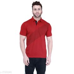 Tshirts Men's Collar Red Half Sleeves Printed Tshirt Fabric: Cotton Sleeve Length: Short Sleeves Pattern: Printed Multipack: 1 Sizes: S (Chest Size: 39 in Length Size: 27.5 in)  XL (Chest Size: 45 in Length Size: 29 in)  L (Chest Size: 43 in Length Size: 28.5 in)  M (Chest Size: 41 in Length Size: 28 in)  XXL (Chest Size: 47 in Length Size: 29.5 in) Country of Origin: India Sizes Available: S, M, L, XL, XXL   Catalog Rating: ★4.2 (452)  Catalog Name: Trendy Elegant Men Tshirts CatalogID_1148540 C70-SC1205 Code: 853-7195848-999