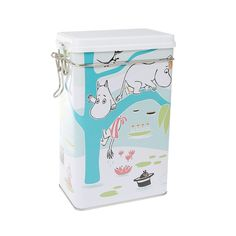 Cheer up your every day coffee moments with this beautiful jar. Size: 12 x 20 x 8 cm Värikäs kahvipurkk Coffee Jars, Coffee Tin, Moomin Valley, Tove Jansson, Cheer, Beautiful, Pond, Seals, Finland