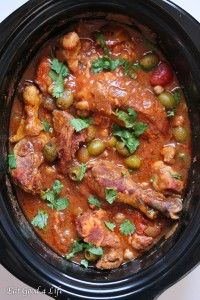 Harissa slow cooker moroccan chicken.