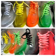 Shoes inspired from dr.martins but with a big twist: transparent with a graduation to colors Big Twist, Dr Martins, Colorful Shoes, Cute Shoes, Shoe Boots, Graduation, Inspired, Colors, Room