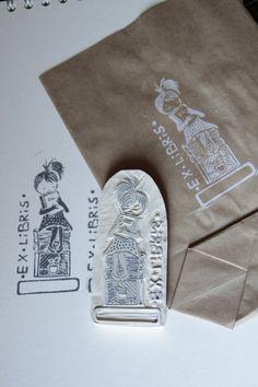 ex libris stamps hand carved by ~Aure-En on deviantART
